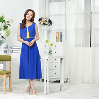 ( Special ) 2014 new Slim sleeveless chiffon dress and long sections