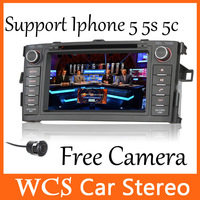 Car Head Unit For Toyota Corolla Hatchback 2007-2011  ,2 din support  dvr  car dvd mp3 player,with AM/FM car audio+Free camera 2