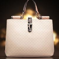 2014 Famous Luxury Brand Fashion Women Genuine Leather+pu  Bags, Women knit Handbag Messenger Bags Totes Shoulder Bag KL8E
