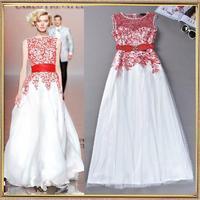 Fashion Runway Embroidery Floor-length Elegant Long  Evening Dress