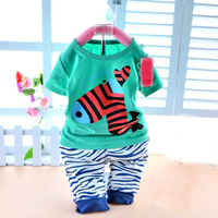 New virgin suit in the summer of 2014, private cotton short sleeve suit, little zebra suit.
