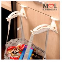 New 2x Foldable Kitchen Door Back Garbage Bag Hook Hanger tool 20140406