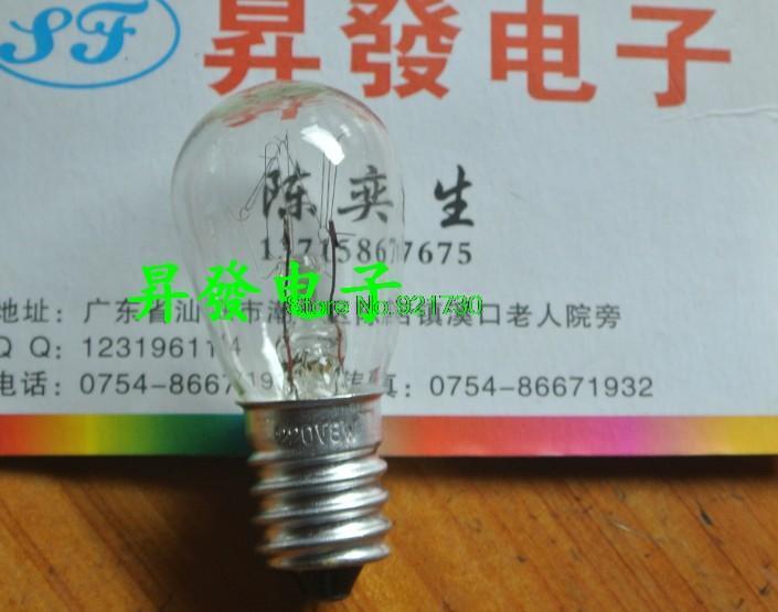 Free shipping 10PCS Refrigerator microwave salt crystal lamp bulbs with long-life light bulbs E14 15W 220V small screw(China (Mainland))
