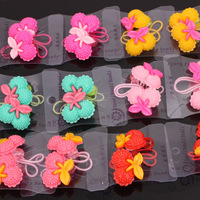 24pcs Lot Mix Colour Cherry Baby Child Girl Hair Band Hairband Ponytail Holders Hair Jewelry Free Shipping