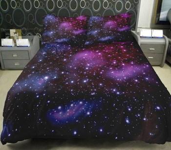 Коллекции постельных принадлежностей комплект из украшения дома идеи Galaxy одеяло пододеяльники Galaxy постельное белье с 2 бросок наволочки