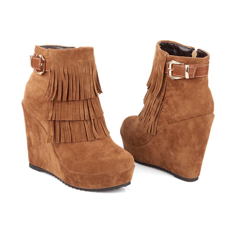 fashion platform high heel snow boots 2014 autumn