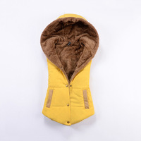 All-match thickening coral fleece with a hood vest wadded jacket vest women's