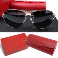 Free Shipping 2014 New Fashion High Quality Men Sunglasses women brand designer Leopard head UV Sun glasses With original box