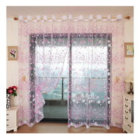 Romantic rustic curtain yarn customize finished products balcony 4 colors to choose tulle window curtain