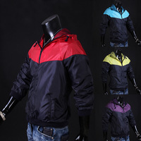 2014 hot sale man color matching jacket, free shipping, 4 color optional