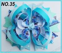 free shipping fashion 120pcs 5'' frozen hair bows ring hair bows boutique hair bows layered bows