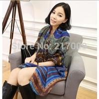 hot selling Europe fashion aztec voile silk geometry print hajib scarf women summer spring cachoel shawl