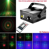 2014 new arrival red green 18 patterns laser projector blue led Remote Stage DJ lighting Dance Show disco Party Light Show L18