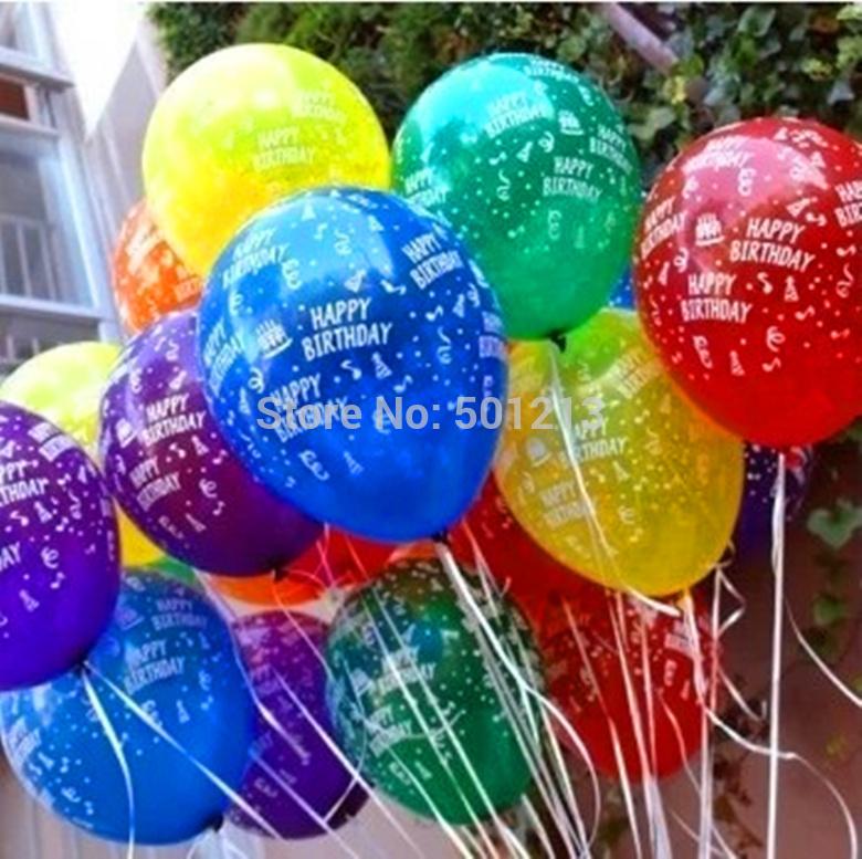 100pcs/lot 12inch Birthday Party Decoration Ballons Latex Round helium ...