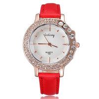 Newest style 2014 fashion designer ladies watch brand leather strap crystal diamonds rose gold watch quartz clock hours gift