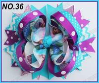 free shipping fashion 300pcs 5'' frozen hair bows ring hair bows boutique hair bows layered bows