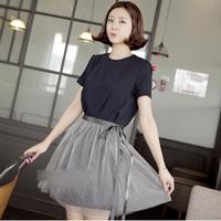 Free shipping 2014 summer new women's short skirt high quality short design lace ladies princess skirt  (free 2pcs set) 8635