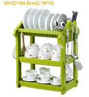Bowl Rack Drain Rack Dish Rack Kitchen Shelf Kitchen Storage Rack Three Layers