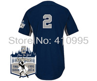 Baseball New York 2 Derek Jeter Authentic 2014 Road Cool Base BP Jersey w/New York Legend Final Season 1995-2014 Patch