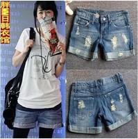 Promotion lady Denim Shorts,(S,M,L,XL,XXL)Fashion Ladies Jean hole Shorts,Denim Pants with Casual Short Hot Sale Free Shipping