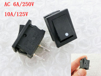 SPST On/Off Black Momentary Push Button Switches AC 6A/250V 10A/125V