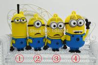 Free shipping 4GB 8GB 16GB 32GB cartoon yellow man option pendrive Minions model USB flash drive 2.0 Pen memory U disk