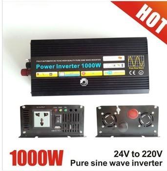 Off Grid 1000w DC12V/24V, AC110V/220V, Pure Sine Wave Solar Inverter or Wind Inverter, Surge 2000w, 50Hz/60Hz, Single Phase(China (Mainland))