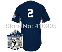 Free Shipping New York Authentic 2014 Derek Jeter Home Cool Base BP Jersey w/New York Legend Final Season 1995-2014 Patch