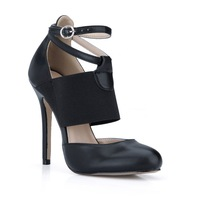 2014 Mary Jane pumps Stretch Fabric Fashion design PU leather high heels ladies high heel sexy party dress prom shoes for woman