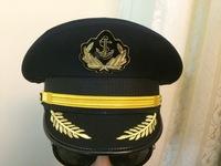 Luxury Novelty Black Navy captain sailor hat for men large brim hats chapeu men casquette crew captain cap
