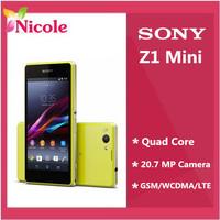 Original Unlocked Sony Xperia Z1 Mini M51w Quad Core Smart Mobile Cell Phone 20.7 MP WIFI SG Post Refurbished Free Shipping
