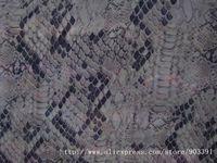 Snake Printing 100% Pure Silk Chiffon Fabric Printed C1043