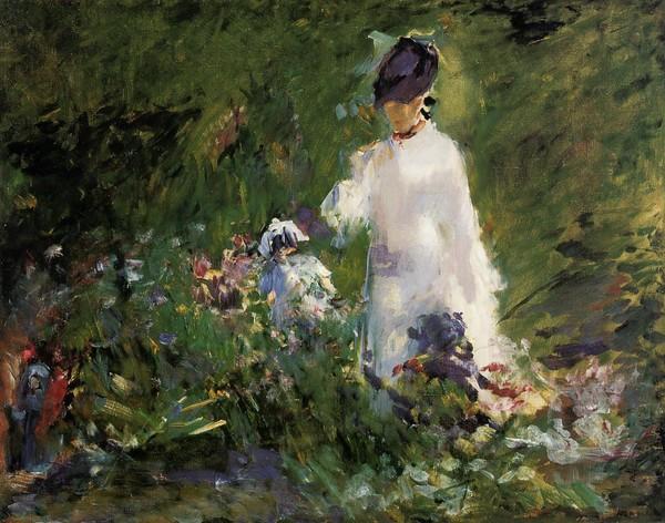 En pétard avec le temps.... Young-Woman-among-the-font-b-Flowers-b-font-Edouard-font-b-Manet-b-font-Painting