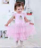 Retail New 2014 very beautiful Girl Dress cartoon Sofia Princess Dresses Children tutu dress kids party dresses. In stock .