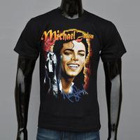 2014 High Quality, 100% Cotton T-shirts For Men,Hobby Singer Michael Jackson Star Charm Men T-shirt, Free shipping