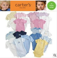 Carter 's triangle ha garments with short sleeves Baby romper suit boby's clothing 5 pieces a lot free shipping