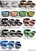 MW-18 Wholesale Tibet Buddhist Singing Bowl,Nepal White Metal Brass Handicrafts,Healing bowls,mix order, various size