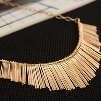 Women Multilayer Chain Tassels Choker Bib False Collar Necklace Gold  Freeshipping&Wholesale