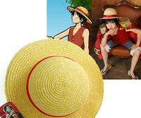 2014 New Fashion Summer Men Hat Women Hat/ONE PIECE LUFFY Anime Cosplay Straw Cap Luffy's Hat/Round Stylish Hat for Men