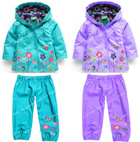 2014 new children suit (hoodie + pants), children's hoodies, children's jacket, girl suits, children raincoat, coats and jackets