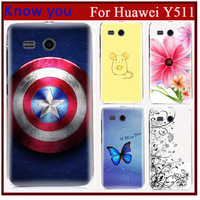 Free shipping!The Captain American new 2014 hard print Plastic back cover phone case For huawei ascend y511 fit huawei y511 case