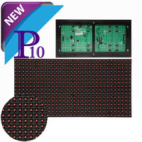 2014 New P10 single red color led Advertising Module.Outdoor waterproof led pannel .High Brightness guarantee 100%