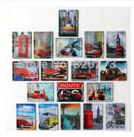 Free shipping 8x11cm bus car motorbike Route 66 MINI retro vintage metal painting refrigerator magnet Decor Retro Metal Poster