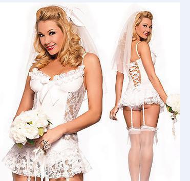 sex lingerie women bridge wedding dress sexy costumes free shipping/XN001(China (Mainland))