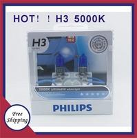 H3 German imports Freeshipping 100% Original Genuine Blue Diamond  5000K bright white light h3 12972 car distance light bulb