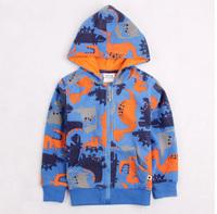 RETAIN!New2014Lovely Dinosaur Baby Boy Girl's Coat,100%Cotton Brand Children Clothing Spring Winter Zipper Kids Hoodie Jacket