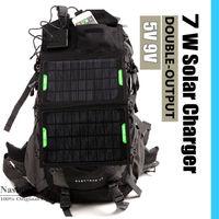 Solar charger Hi- power 7W portable floding solar rPanel External Battery Pack  Duoble 5V/9V usb port for mobilephone ipad MP4.