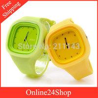 100pcs/lot  2014 new Fashion zgo Jelly Silicone wristwatches men Sports watches Quartz Watch Women Dress Watches
