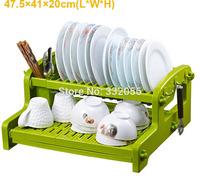 Double Layer Drain Bowl Rack Drain Rack Dish Rack Kitchen Shelf