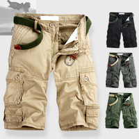 LBHOMME outdoor men more pockets tooling 5 shorts beach sports leisure water straight comfortable cotton shorts free shipping